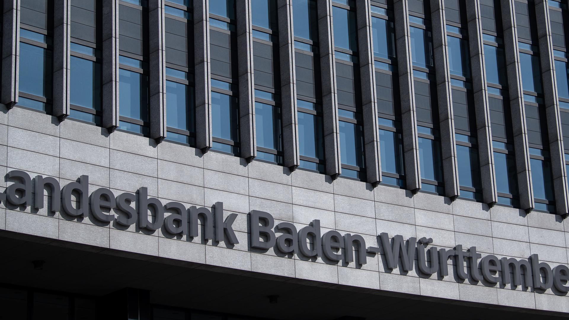 Baden-Württemberg, Stuttgart: Der Schriftzug der Landesbank Baden-Württemberg (LBBW).