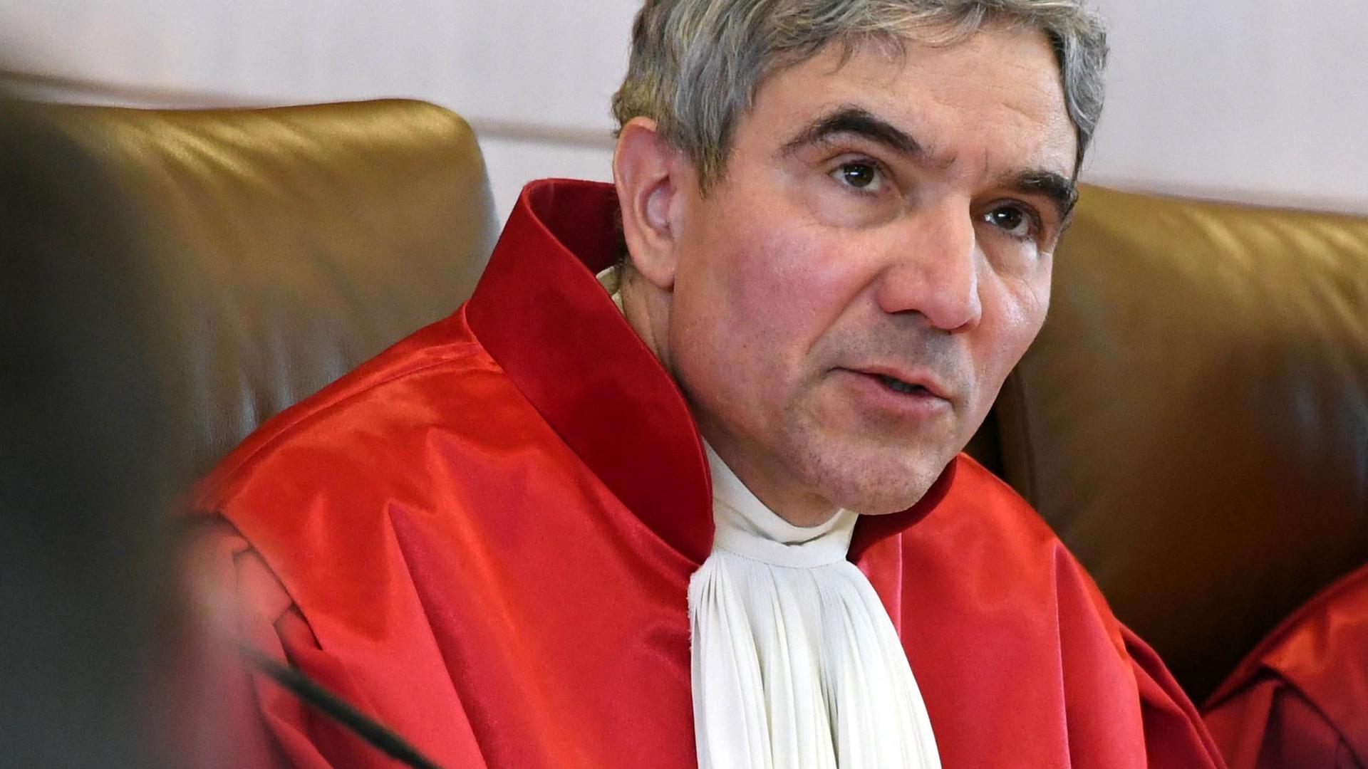 """Stephan Harbarth, Vorsitzender des Senats beim Bundesverfassungsgericht, eröffnet eine mündliche Verhandlung. (zu dpa """"Bundesrat will neuen Präsidenten des Bundesverfassungsgerichts wählen"""") +++ dpa-Bildfunk +++"""