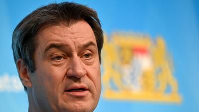Markus Söder (CSU), Ministerpräsident von Bayern, nimmt nach der Sitzung des bayerischen Kabinetts an einer abschließenden Pressekonferenz teil. +++ dpa-Bildfunk +++