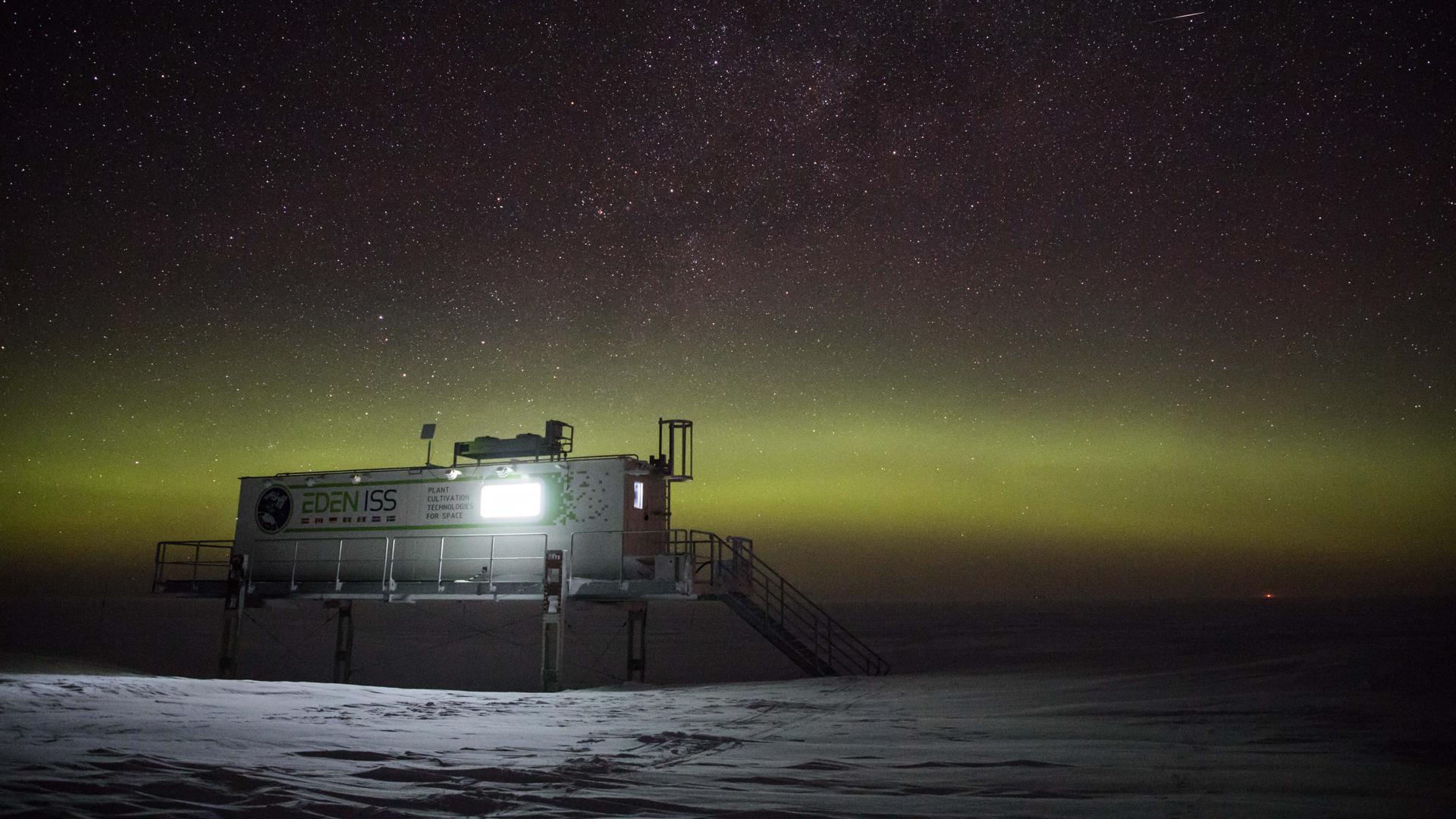 """Ein Gemüsegarten am Ende der Welt: Das von einem Karlsruher Wissenschaftler geleitete Projekt """"Eden ISS"""" in der Antarktis liefert wichtige Erkenntnisse darüber, wie sich die Langzeitforscher außerhalb der Erde selbst mit frischer Nahrung versorgen können."""
