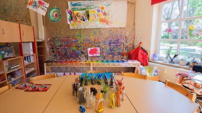 Blick in die Malecke in einem Kindergarten in der Region Hannover.