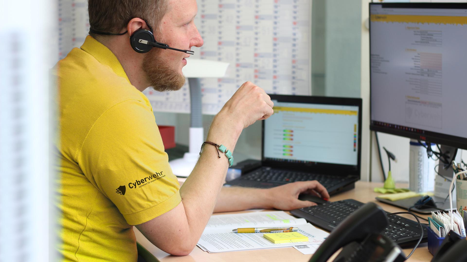 Ein großes Netz von Helfern: Nach zwei Jahren Pilotbetrieb in der Region bietet die Karlsruher Cyberwehr ihren Service nun landesweit an, um auch woanders Unternehmen im Kampf gegen digitale Kriminalität zu helfen.
