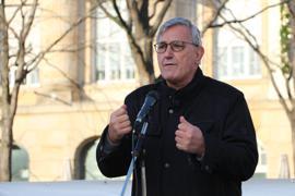 """Kritik an der """"Bildungsmisere"""" im Südwesten: Linken-Chef Bernd Riexinger eröffnete am Samstag in Karlsruhe die Kampagne seiner Partei für die Landtagswahl-2021."""