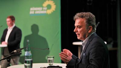 Memet Kilic bei Parteiveranstaltung der Grünen in Pforzheim