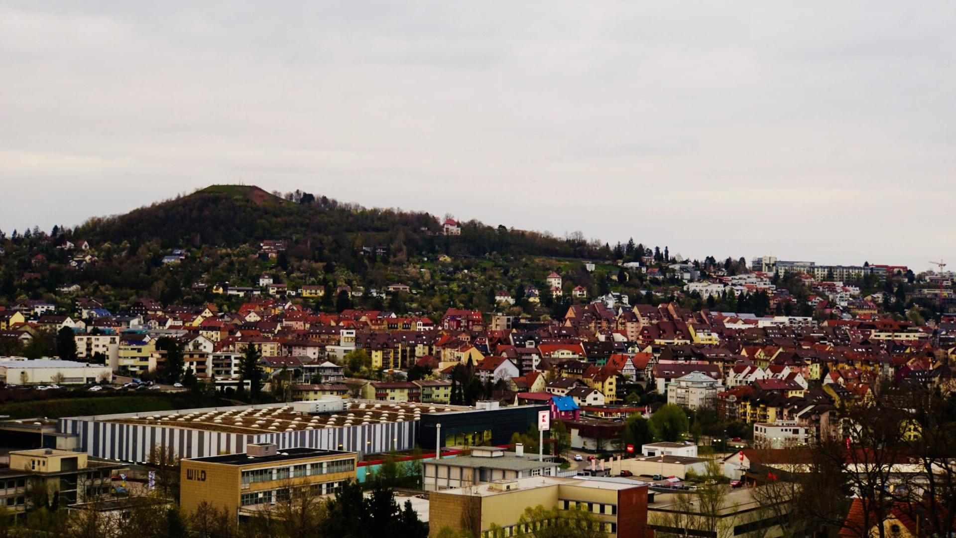Der Wallberg vom Pforzheimer Rodgebiet aus gesehen.