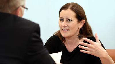 Für eine Umverteilung von Reichtum: Die Spitzenkandidatin und Co-Vorsitzende der Linkspartei, Janine Wissler, fordert im BNN-Interview mehr soziale Gerechtigkeit in Deutschland.
