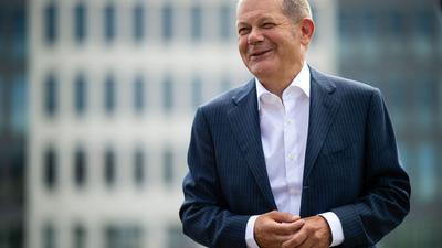 Hat gut lachen: SPD-Kanzlerkandidat Olaf Scholz legt einen guten Start hin.