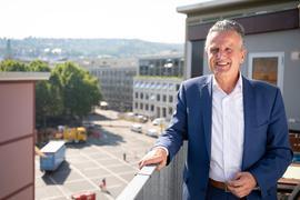 Frank Nopper (CDU), Kandidat der CDU zur Wahl des Oberbürgermeisters in Stuttgart.