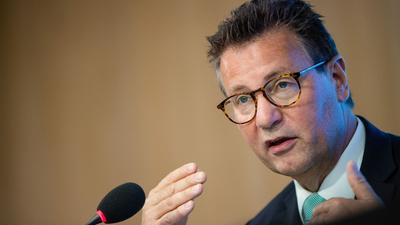 Peter Hauk (CDU), Minister für Ländlichen Raum in Baden-Württemberg, spricht.
