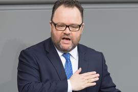 Christian Jung (FDP) während einer Sitzung des Bundestages.