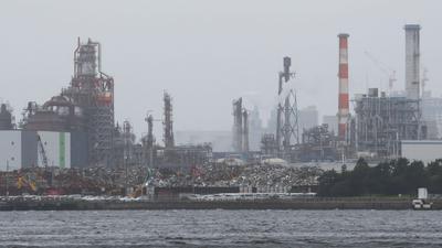 Das Industriegebiet Keihin in Kawasaki. Der Stimmungsindex in Japan ist auf dem tiefsten Stand seit Juni 2009.