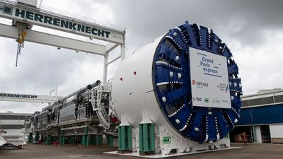 Eine Tunnelbohrmaschine der Firma Herrenknecht.