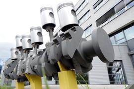 Skultur Kolben-Motor