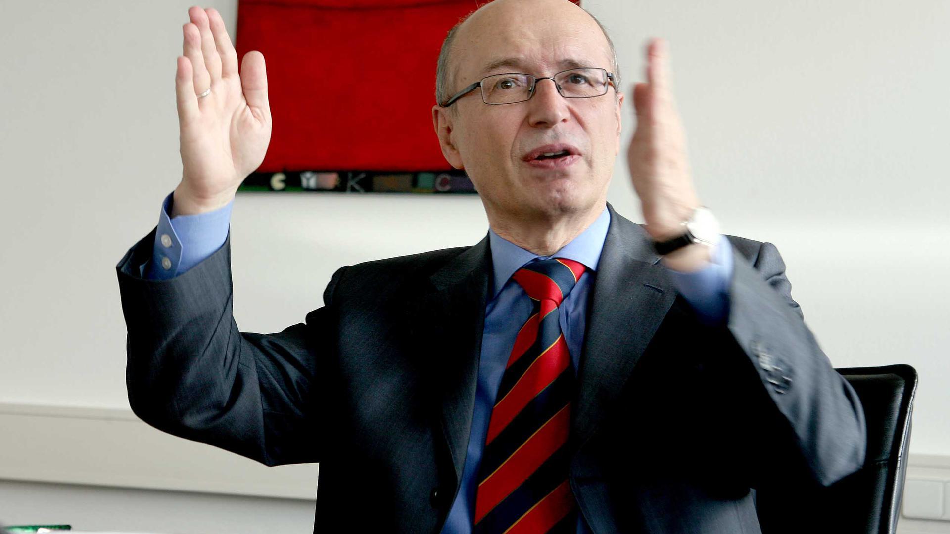 Gottfried Greschner, Vorstandsvorsitzender der Karlsruher Firma init