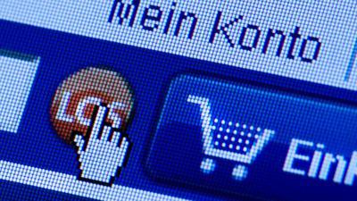 """ARCHIV - 18.11.2011, Sachsen: Dresden: Auf der Webseite eines Online-Shops sind Symbole und die Worte """"Mein Konto"""", """"Warenkorb"""" und """"Los"""" abgebildet. (Zu dpa """"Deutschlands Mittelstand entdeckt allmählich den Online-Vertrieb"""") Foto: Arno Burgi/dpa-Zentralbild/dpa +++(c) dpa - Bildfunk+++   Verwendung weltweit"""