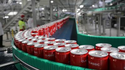 Dosenabfüllung im Coca-Cola-Werk Karlsruhe
