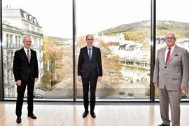 Walter Bantleon (Mitte) wird Nachfolger des langjährigen Hauptgeschäftsführers der Handwerkskammer Karlsruhe, Gerd Lutz. Rechts im Bild Präsident Joachim Wohlfeil.