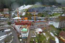 Luftbild von der Baustelle.