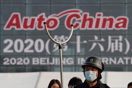 """Die """"Auto China 2020"""" - die erste große internationale Ausstellung der Branche seit mehr als einem Jahr - öffnet ihre Pforten."""