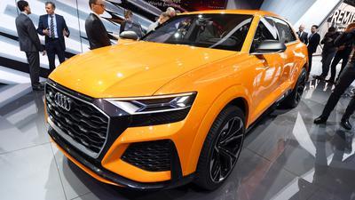 Ein Audi Q8 sport concept auf dem Genfer Autosalon.