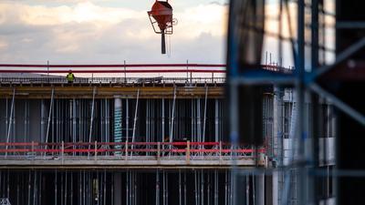 Das Baugewerbe steigerte seinen Ausstoß um 1,5 Prozent.