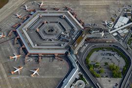 Blick auf den Flughafen Tegel.