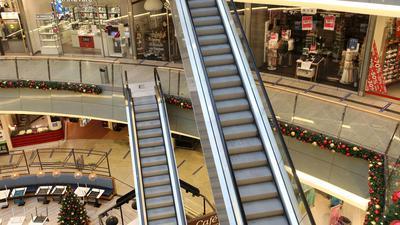 Fast menschenleer ist das Einkaufszentrum Kröpeliner Tor Center KTC in der Innenstadt von Rostock. Die Corona-Situation macht die Lage für viele stationäre Händler immer schwieriger.