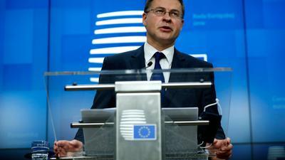 EU-Handelskommissar Valdis Dombrovskis.