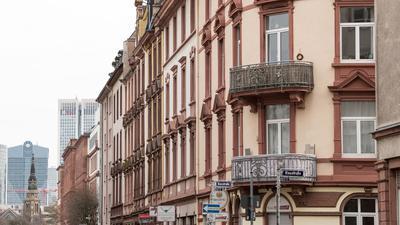 Häuserfronten in Frankfurt am Main.
