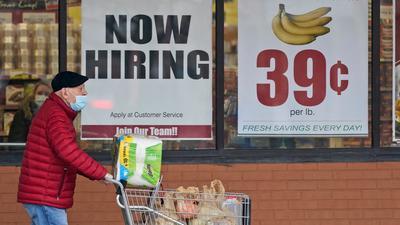 Auf dem Arbeitsmarkt in den USA geht es langsam wieder aufwärts.