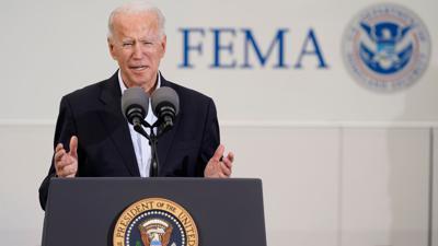 Joe Biden, Präsident der USA, spricht bei einer Veranstaltung zur Covid-19-Massenimpfung.