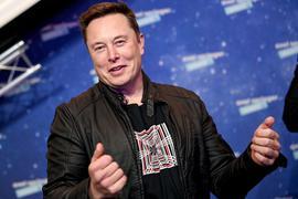 Elon Musk, Tesla-CEO, bei der Verleihung des Axel Springer Award in Berlin.