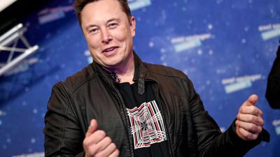 Elon Musk, Tesla-CEO bei der Verleihung des Axel Springer Award.