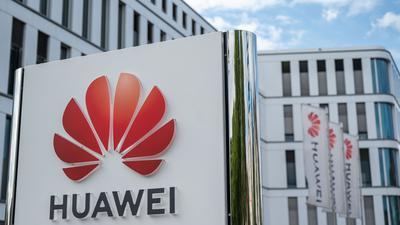 Blick auf die Huawei Deutschland Zentrale in Düsseldorf.