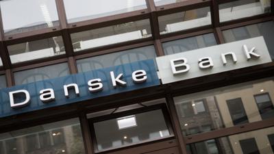 Das Logo der Danske Bank.