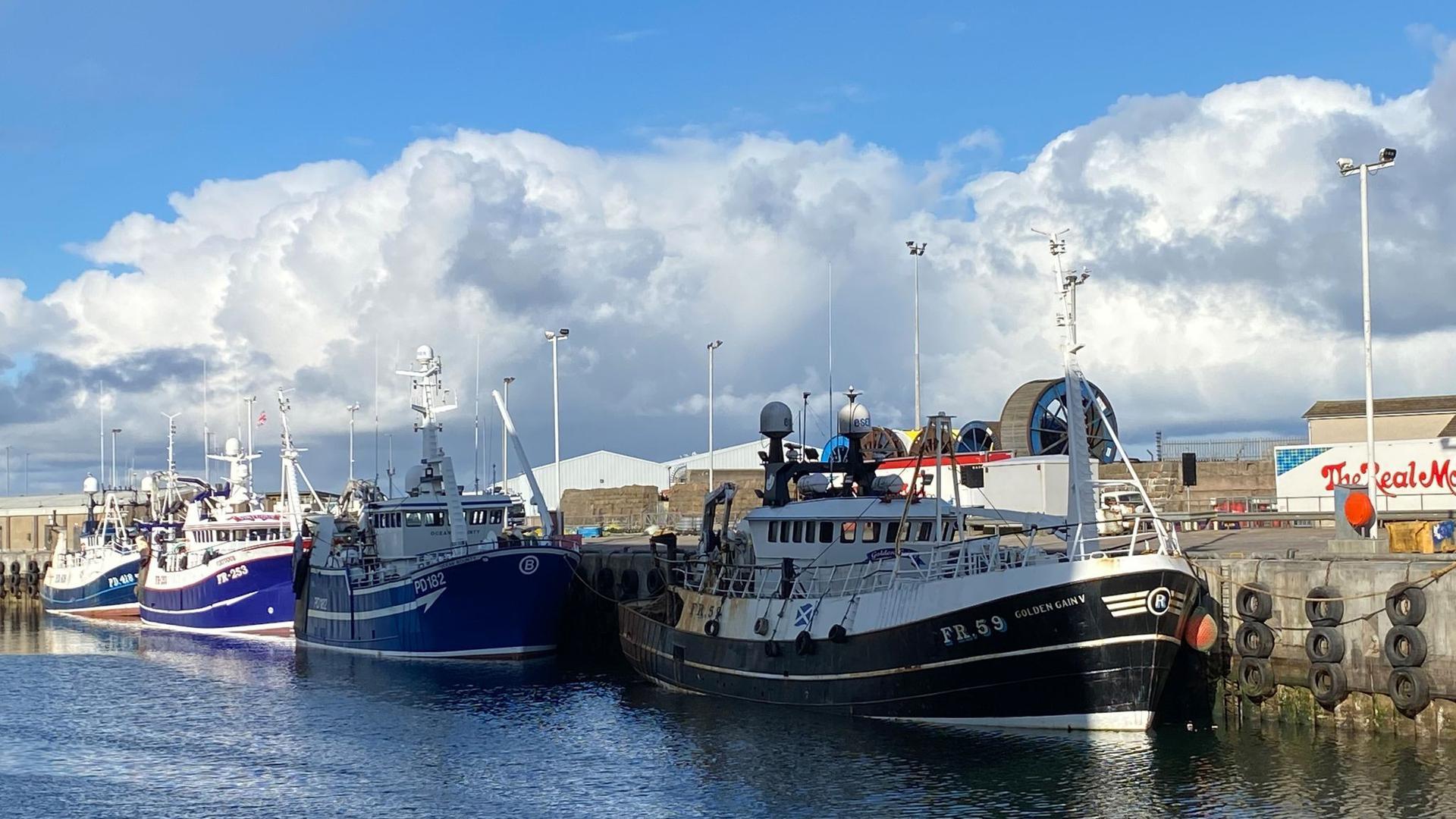 Der Hafen von Peterhead. Die Fischerei war eines der emotionalsten Themen bei den Brexit-Verhandlungen zwischen Großbritannien und der EU.