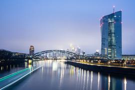 Das Gebäude der Europäischen Zentralbank in Frankfurt.