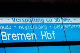 Der Anteil der verspäteten Züge bei der Bahn steigt wieder.