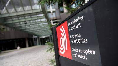 Das Europäische Patentamt in München.