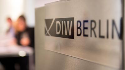 Das Logo des DIW in Berlin.
