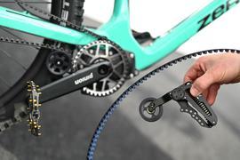 Eein Mountainbike mit Gates-Riemenspanner von Gates Carbon Drives.