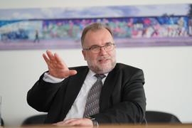 Siegfried Russwurm, neuer Präsident vom Bundesverband der Deutschen Industrie (BDI), im Rahmen eines dpa-Interviews.