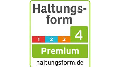 """Die Haltungskennzeichnung """"Premium"""" (Stufe 4) der Initiative Tierwohl (ITW)."""