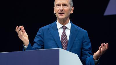 VW-Chef Herbert Diess bei der Eröffnung der IAA Mobility in München.