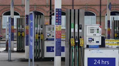Eine Tankstelle in Sheffield ist wegen Kraftstoffmangels geschlossen.