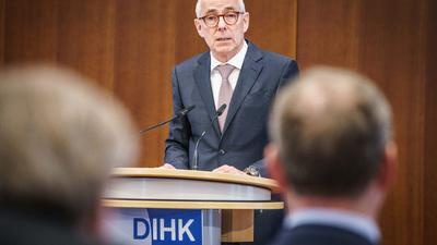Peter Adrian, Präsident des Deutschen Industrie- und Handelskammertags (DIHK).