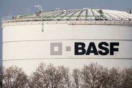 Blick auf das BASF-Werksgelände in Ludwigshafen.