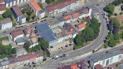 Luftbild Oststadt Auffahrt Parkstraße bis Lindenstraße