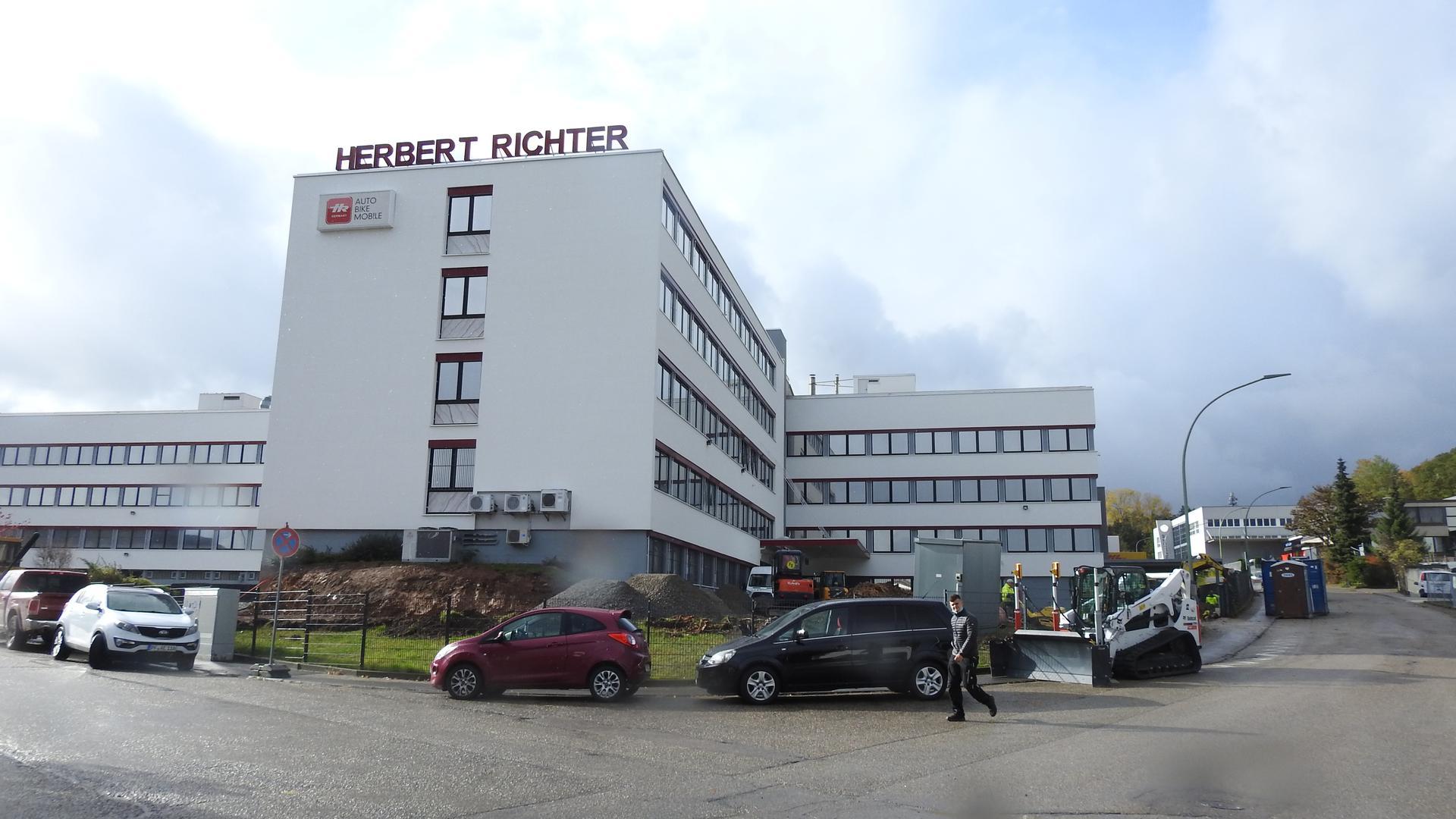 Betriebsgelände der zum 30. April 2020 aufgegebenen Firma Herbert Richter in Büchenbronn