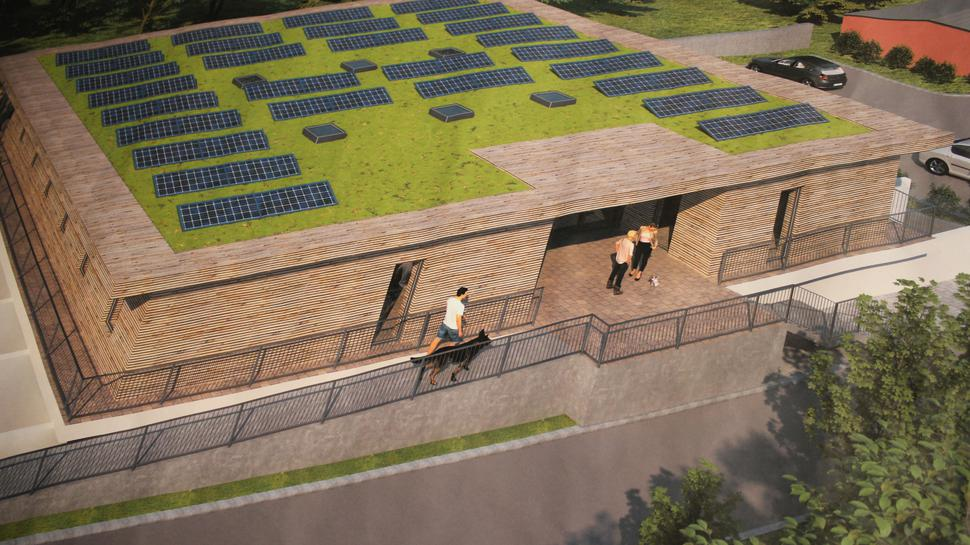 Modell der neuen Quarantänestation auf dem Pforzheimer Tierheimgelände.